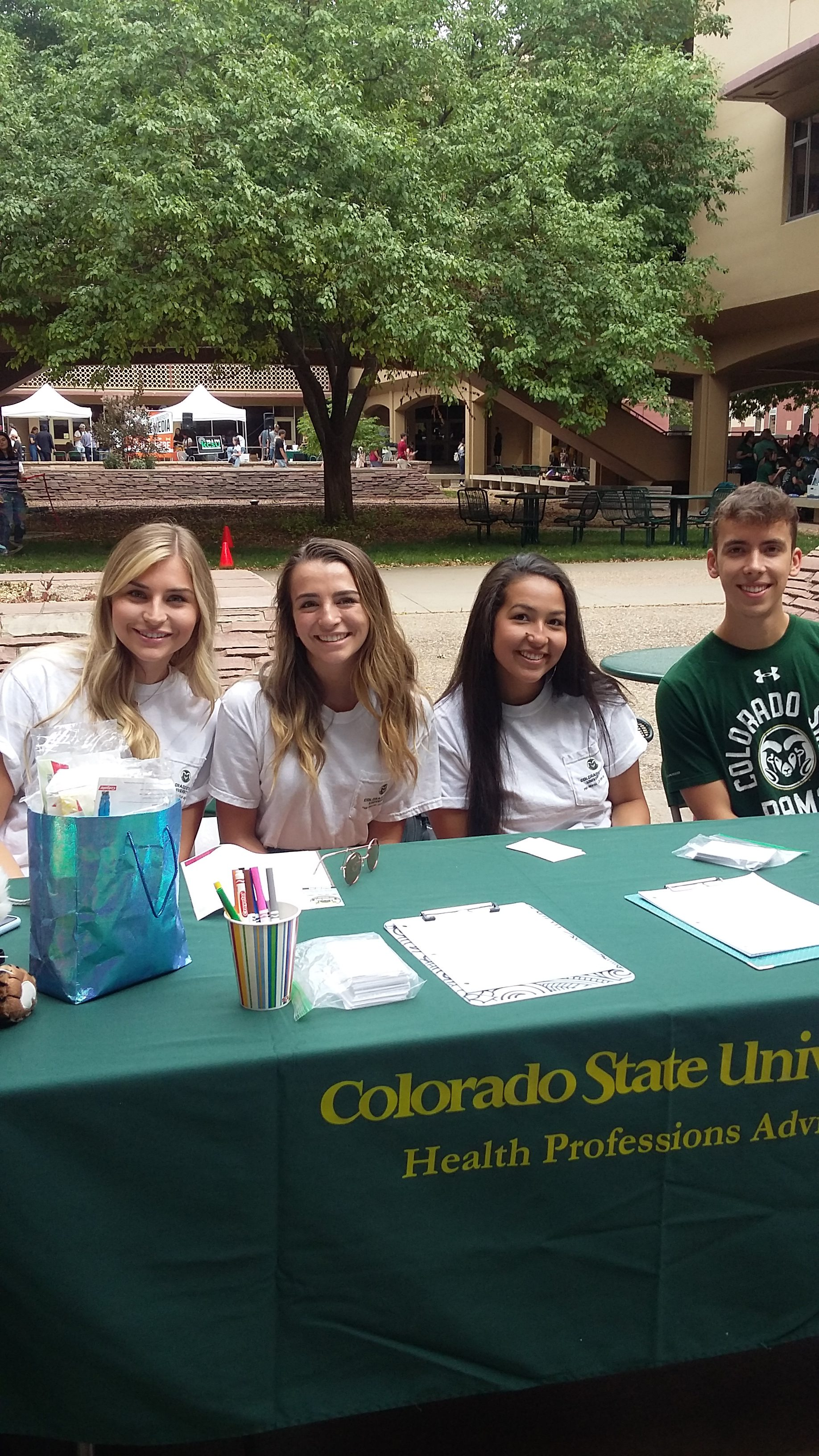 CSU Health Professions Club Officers at Ram Welcome 2019